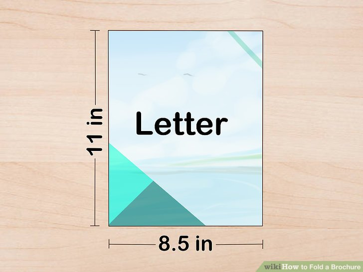 3 Ways to Fold a Brochure - wikiHow