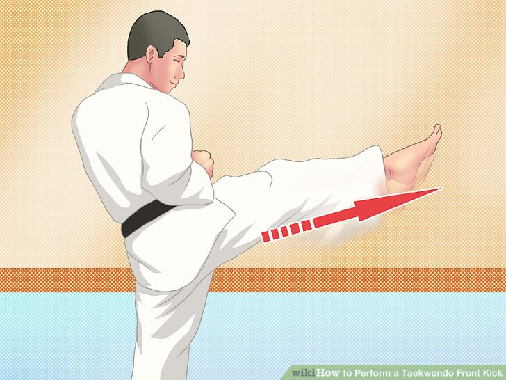 How to Perform a Taekwondo Front Kick 12 Steps (with Pictures)