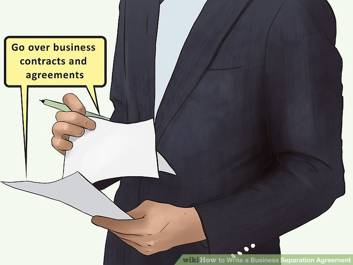 How to Write a Business Separation Agreement (with Pictures) - business agreements