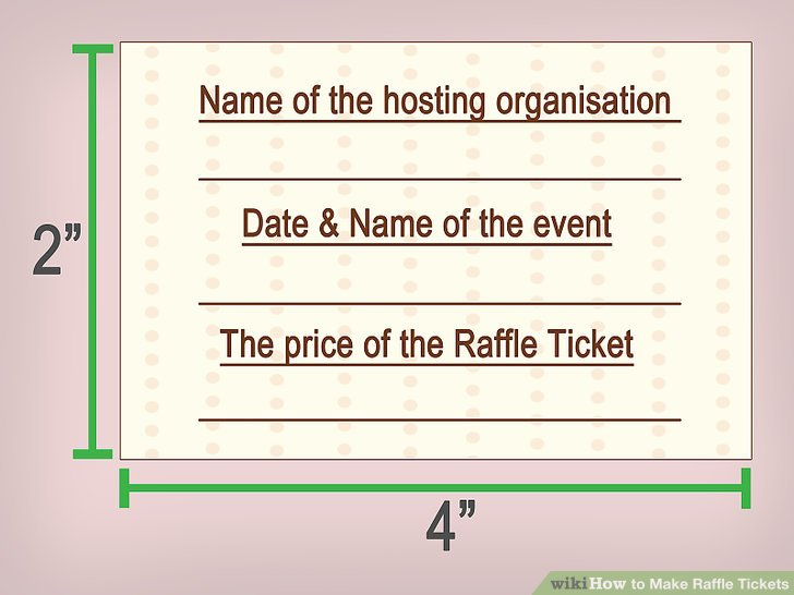 3 Ways to Make Raffle Tickets - wikiHow