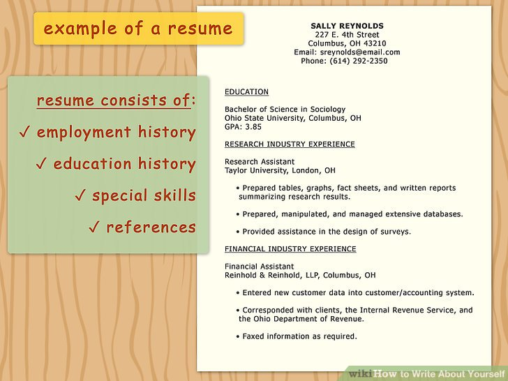 how can i write an essay about myself how to write about yourself - how to write a resume about yourself