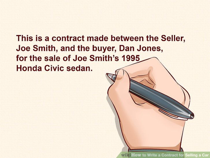 Expert Advice on How to Write a Contract for Selling a Car - private owner car sale contract