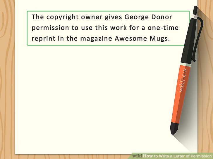 How to Write a Letter of Permission (with Sample Letters)