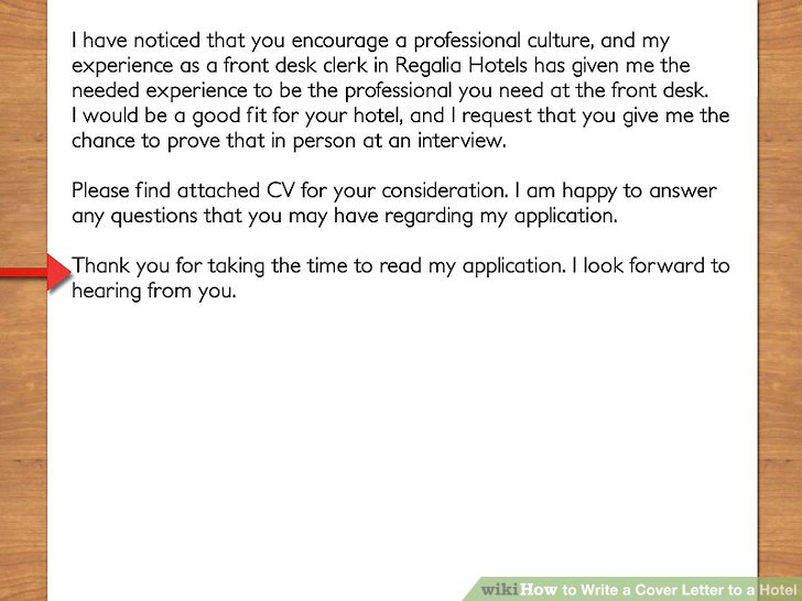 How to Write a Cover Letter to a Hotel (with Pictures) - wikiHow