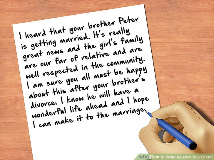 How To Write A Letter To A Friend With Pictures Wikihow