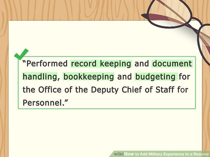 4 Ways to Add Military Experience to a Resume - wikiHow