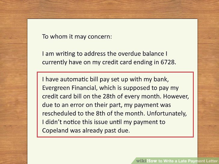 How to Write a Late Payment Letter 9 Steps (with Pictures)