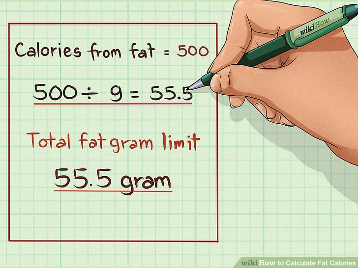 How to Calculate Fat Calories 7 Steps (with Pictures) - wikiHow - how to calculate the percentage of calories from fat