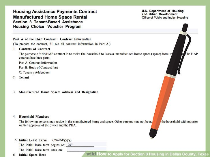 3 Ways to Apply for Section 8 Housing in Dallas County, Texas - rental assistance form