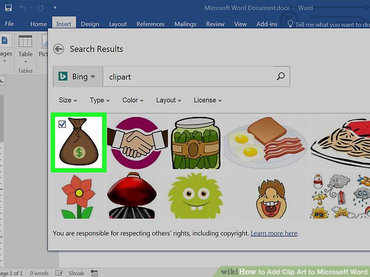 4 Easy Ways to Add Clip Art to Microsoft Word - wikiHow - word clip art