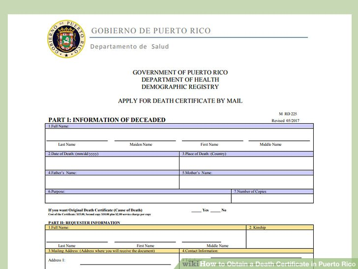 How to Obtain a Death Certificate in Puerto Rico 14 Steps