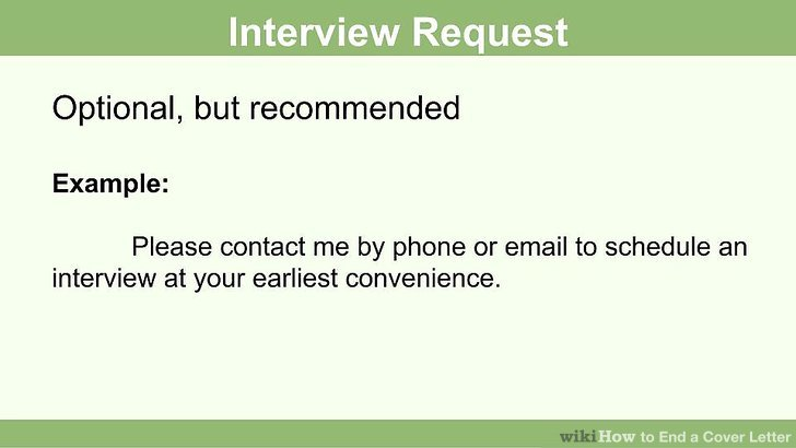 How to End a Cover Letter 15 Steps (with Pictures) - wikiHow