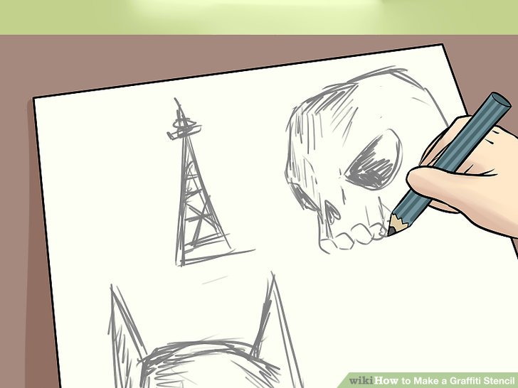 3 Ways to Make a Graffiti Stencil - wikiHow