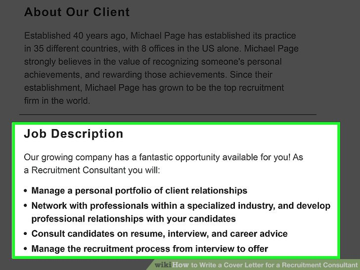 How to Write a Cover Letter for a Recruitment Consultant (with Examples) - recruiter consultant resume