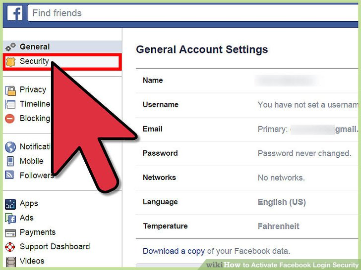 How to Activate Facebook Login Security 5 Steps (with Pictures)