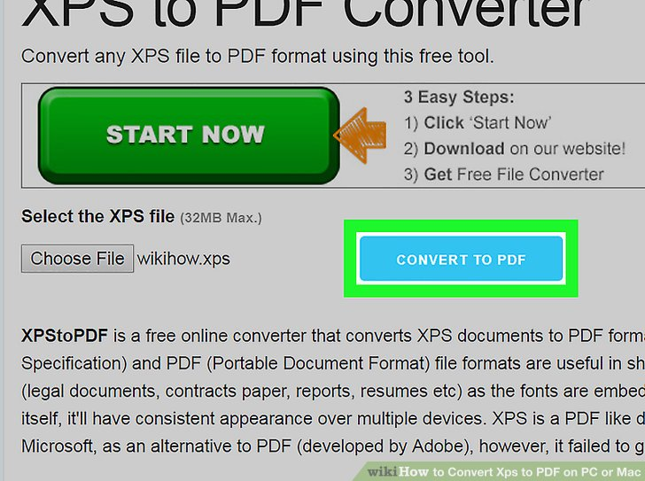 How to Convert Xps to PDF on PC or Mac 7 Steps (with Pictures)