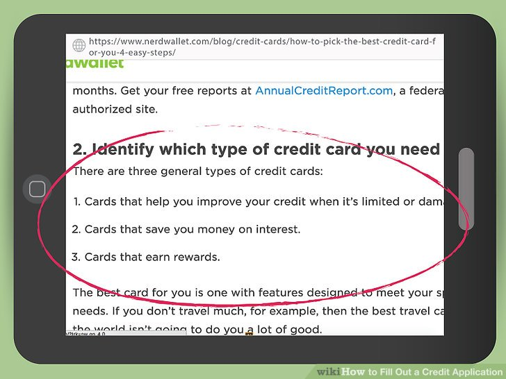 3 Ways to Fill Out a Credit Application - wikiHow