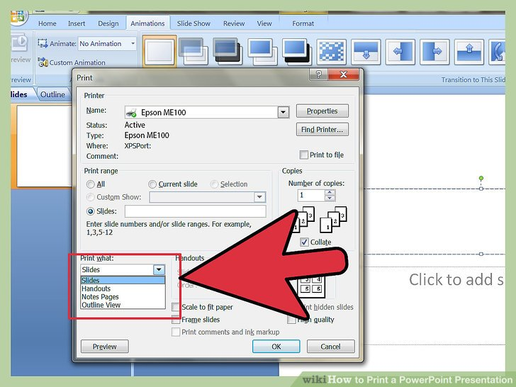 How to Print a PowerPoint Presentation 10 Steps (with Pictures)
