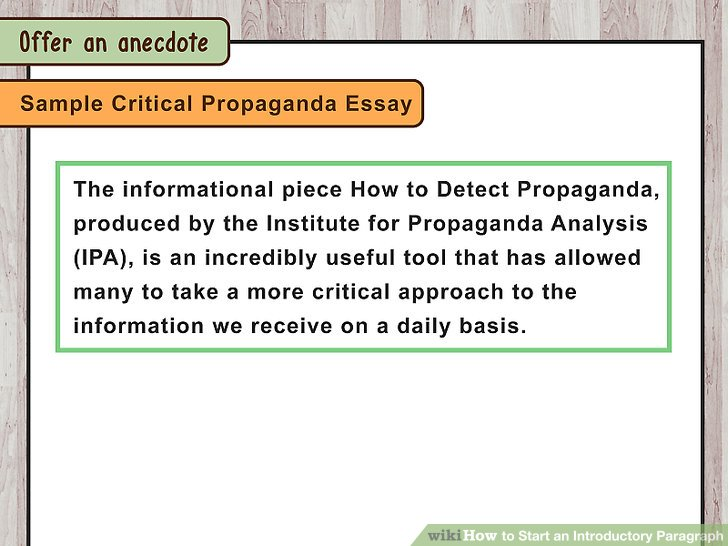 3 Ways To Start An Introductory Paragraph Wikihow