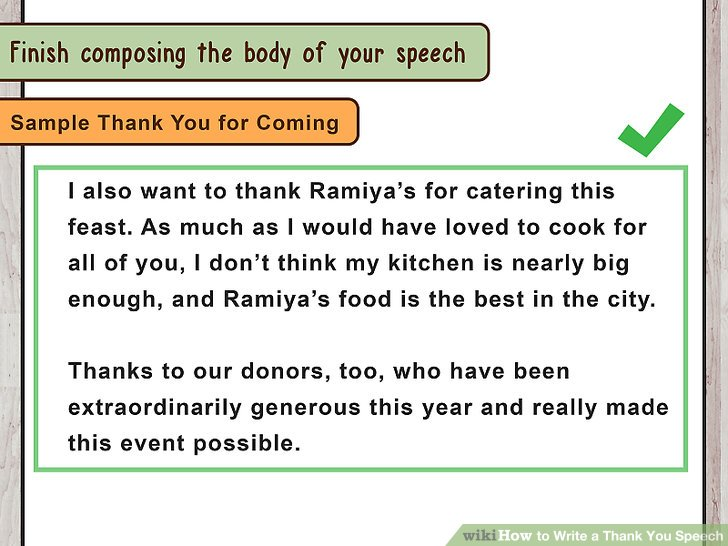 How to Write a Thank You Speech (with Pictures) - wikiHow