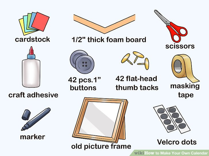 3 Ways to Make Your Own Calendar - wikiHow