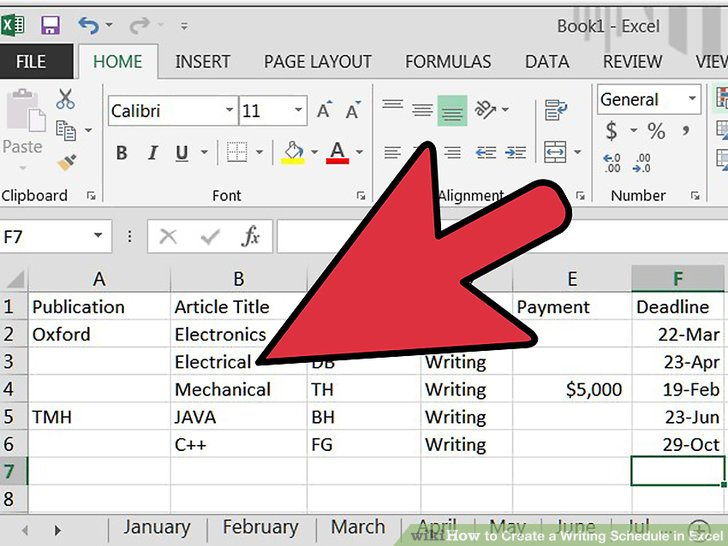 How to Create a Writing Schedule in Excel 7 Steps (with Pictures) - create a schedule