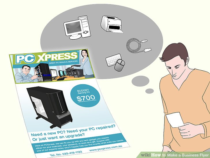 How to Make a Business Flyer 8 Steps (with Pictures) - wikiHow - how to make flier