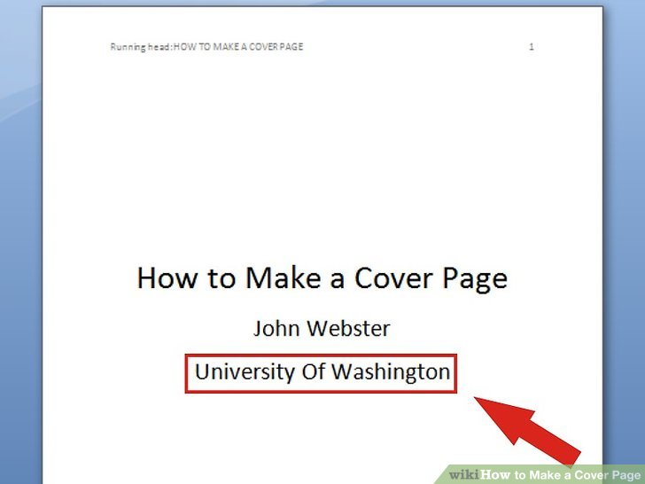6 Ways to Make a Cover Page - wikiHow - how to make a good cover page