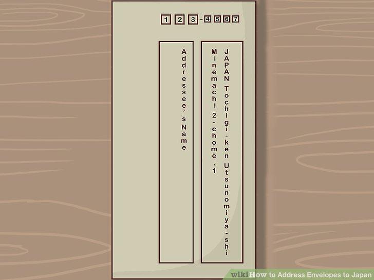 3 Ways to Address Envelopes to Japan - wikiHow