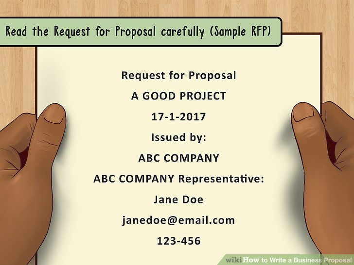 How to Write a Business Proposal (with Pictures) - wikiHow - sample business proposals