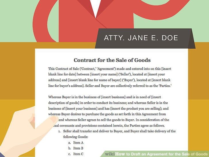 How to Draft an Agreement for the Sale of Goods (with Pictures) - blank sales contract