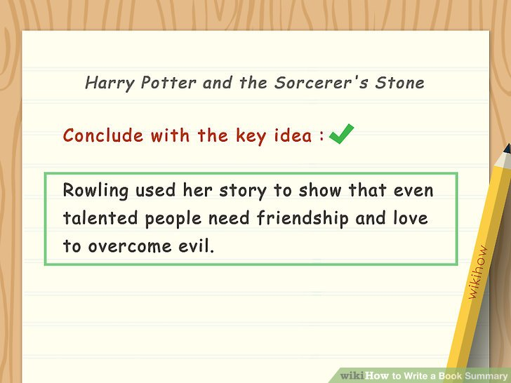 How To Write A Book Summary With Sample Summaries Wikihow