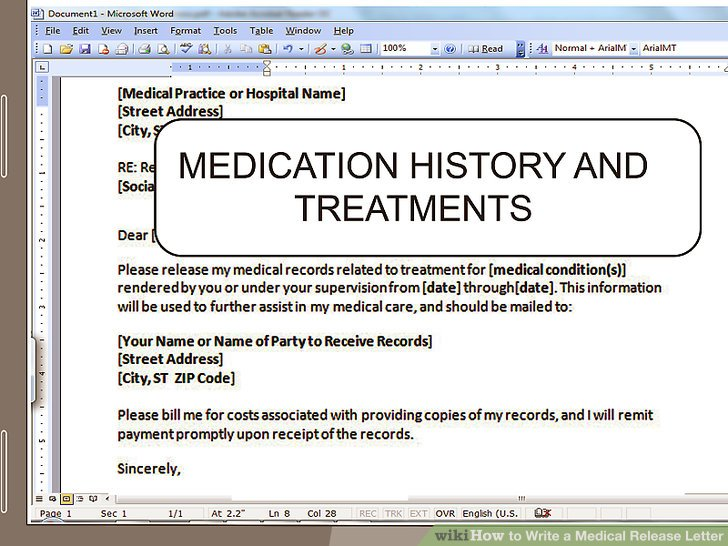 How to Write a Medical Release Letter 15 Steps (with Pictures)