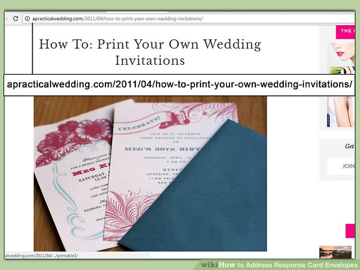 How to Address Response Card Envelopes (with Pictures) - wikiHow