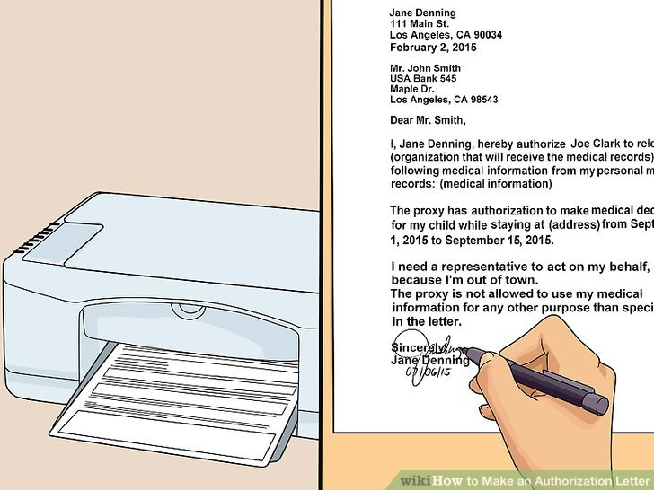 How to Make an Authorization Letter (with Pictures) - wikiHow - Letter Of Authorization Form