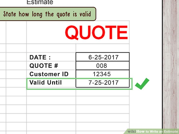 5 Ways to Write an Estimate - wikiHow