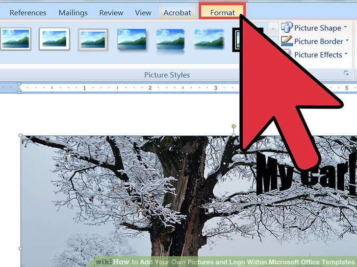 How to Add Your Own Pictures and Logo Within Microsoft Office Templates