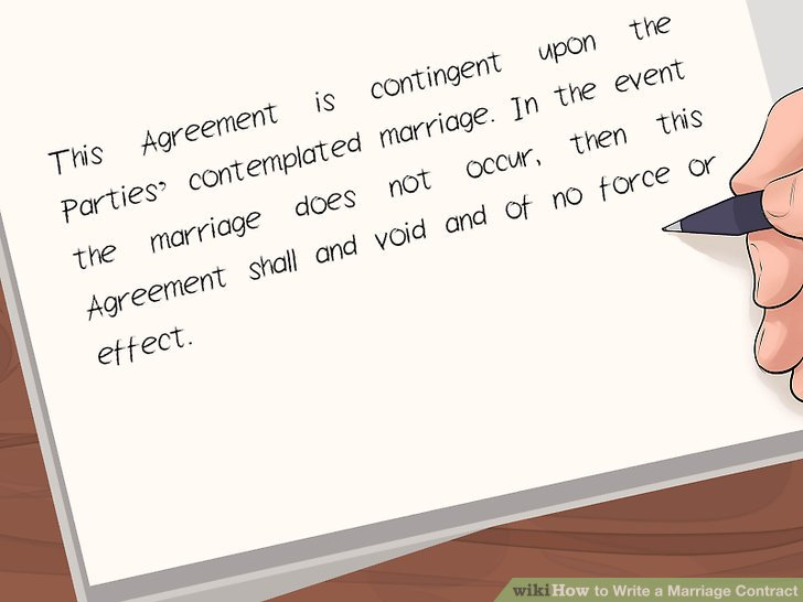 How to Write a Marriage Contract (with Pictures) - wikiHow