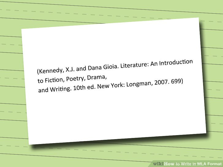 How to Write in MLA Format (with Pictures) - wikiHow - how to write a mla citation