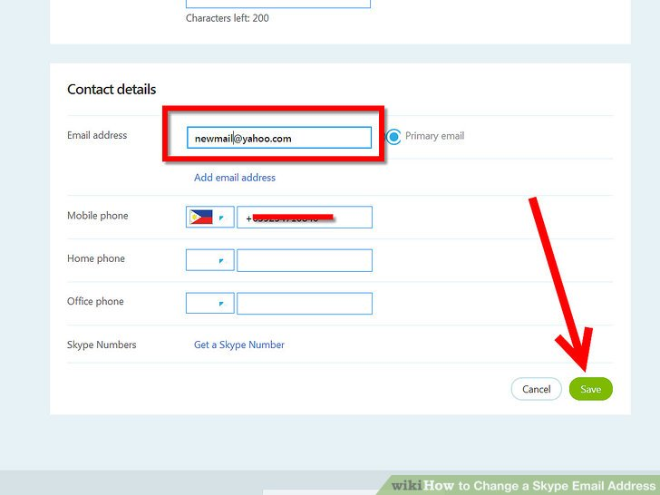 How to Change a Skype Email Address 4 Steps (with Pictures) - address to phone