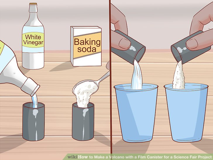 How to Make a Volcano with a Film Canister for a Science Fair Project