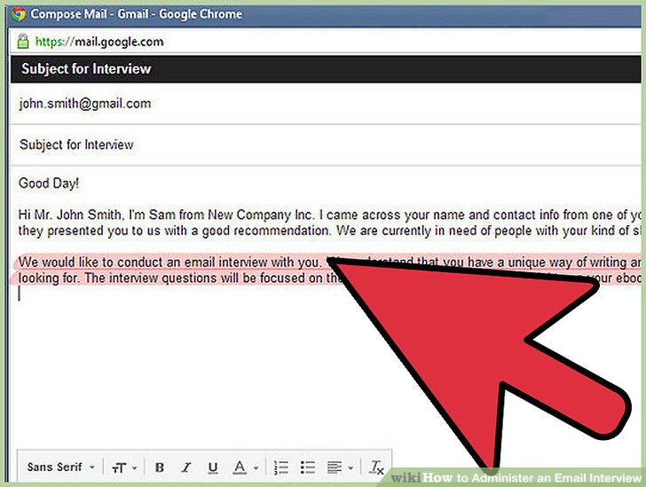 How to Administer an Email Interview 9 Steps (with Pictures) - questions to ask interviewer