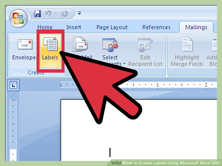 How to Create Labels Using Microsoft Word 2007 13 Steps - make labels in word