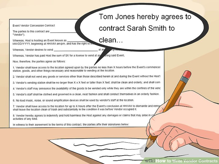 How to Write Vendor Contracts (with Pictures) - wikiHow - vendor contract agreement