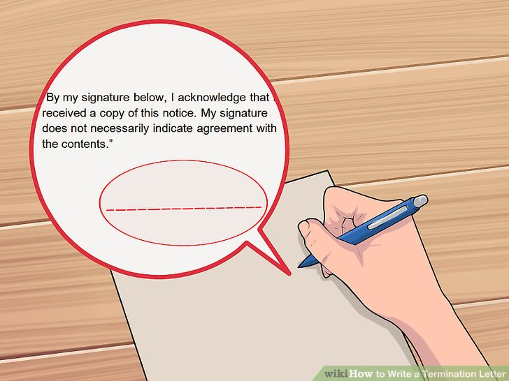 How to Write a Termination Letter 14 Steps (with Pictures)