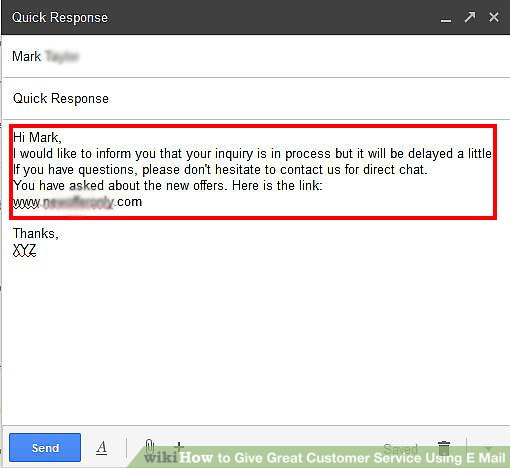 How to Give Great Customer Service Using E Mail 4 Steps