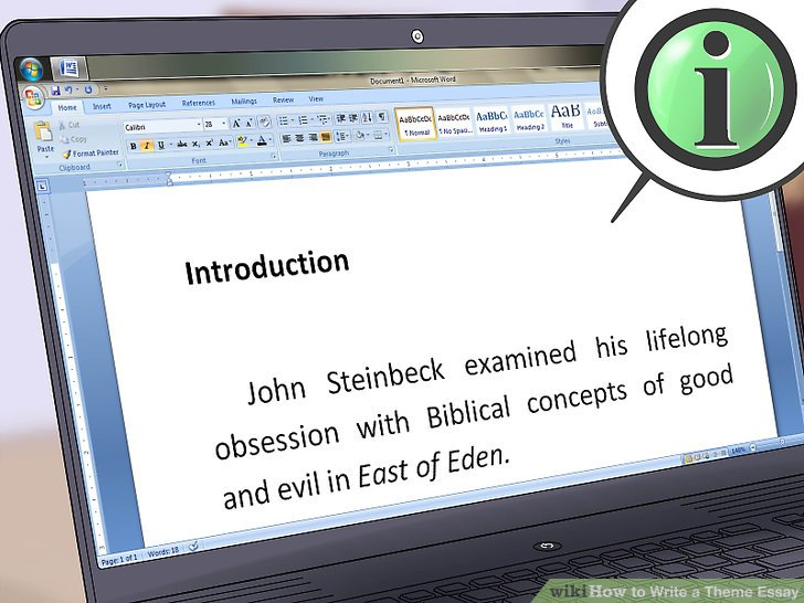 How to Write a Theme Essay 11 Steps (with Pictures) - wikiHow