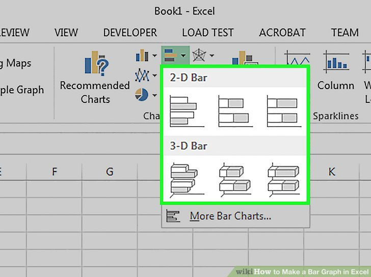 How to Make a Bar Graph in Excel 10 Steps (with Pictures)