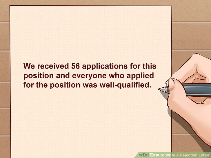 How to Write a Rejection Letter (with Sample Letter) - wikiHow - politely turning down a job offer