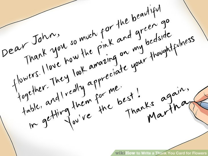 How to Write a Thank You Card for Flowers 5 Steps (with Pictures)